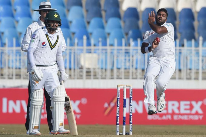 Sri Lanka dismiss Shan Masood before lunch in Pakistan Test