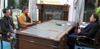 Ousted KP Minister Atif Khan, Shahram Tarakai call on PM Imran