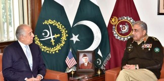 Zalmay Khalilzad meets COAS Gen Bajwa, discuss regional security