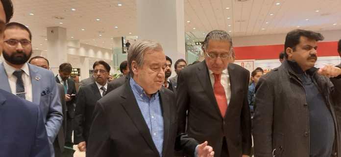 UN Secretary General Antonio Guterres arrives in Pakistan