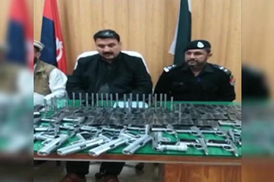 Police foil smuggling bid, confiscate huge cache of weapons in Mardan