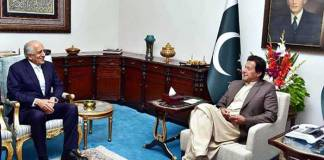 PM Imran meets US envoy, hopes for peace and stability in Afghanistan