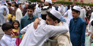 Muslims celebrating Eid-ul-Fitr today