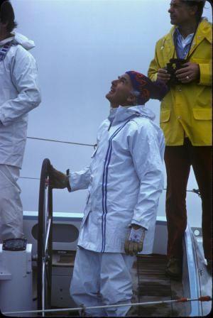 1977 sailing off of Hobart, Tasmania
