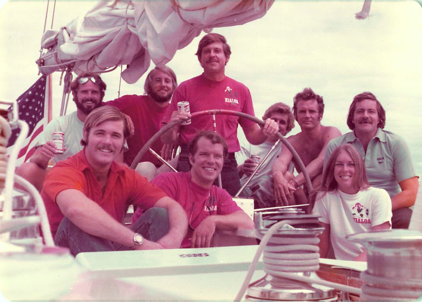 Late 1970s Kialoa Crew plus Patty Kendallll