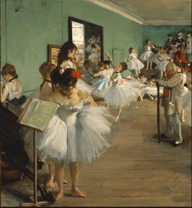 Edgar Degas, Dance Class, 1874