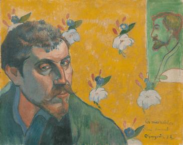 Paul Gauguin, Self-portrait with portrait of Bernard, 'Les Misérables', 1888
