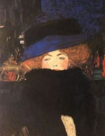 Gustave Klimt, Lady with Hat and Feather Boa, 1909