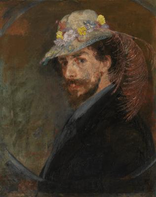James Ensor, Ensor with Flowered Hat, 1883 - 1888