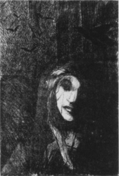 Jeanne Jacquemin, She would wander, full of uneasiness, 1894, lithograph