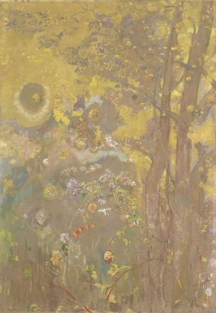 Odilon Redon, Trees on a Yellow Background, 1901