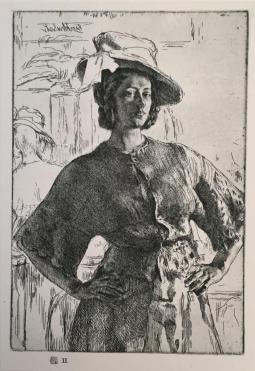 GL Brockhurst, No19 1928, P II, The Mirror, 16 x 11.5cm c