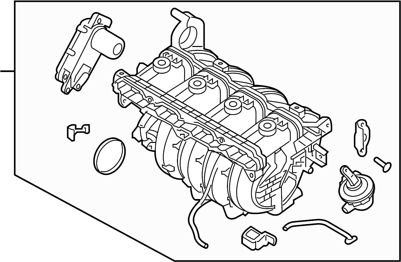 Kia Optima Engine Intake Manifold Liter Transaxle