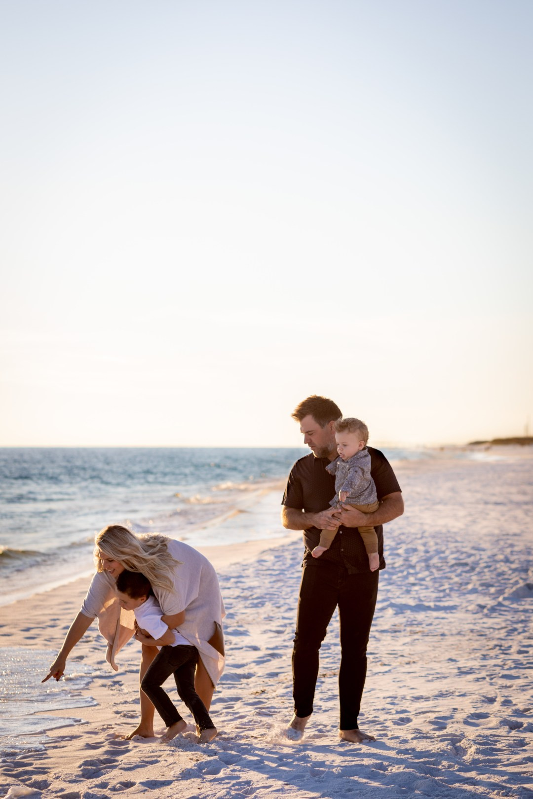 Okaloosa Island family beach photo