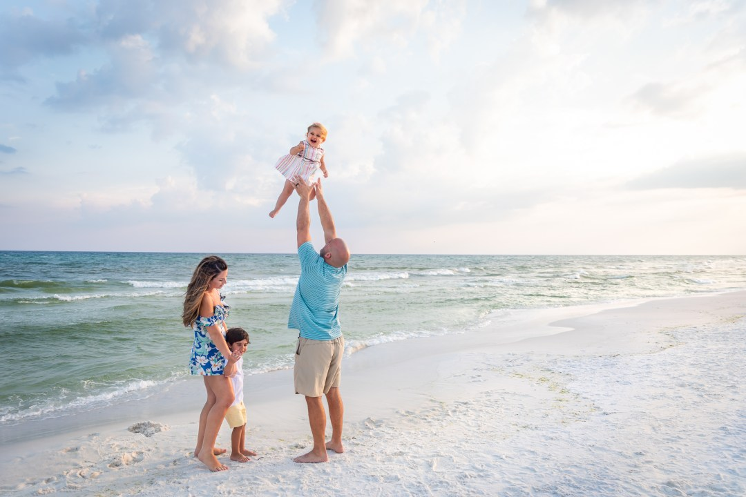 family photography & videography session in Destin, Florida