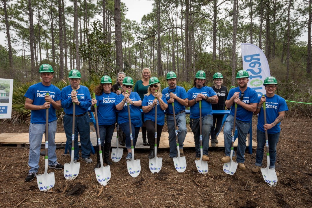 non-profit capital campaign and groundbreaking event for Habitat