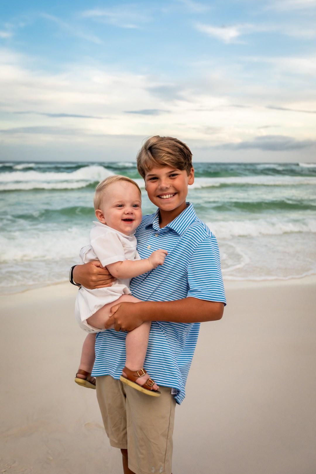 family photo on blue mountain beach florida