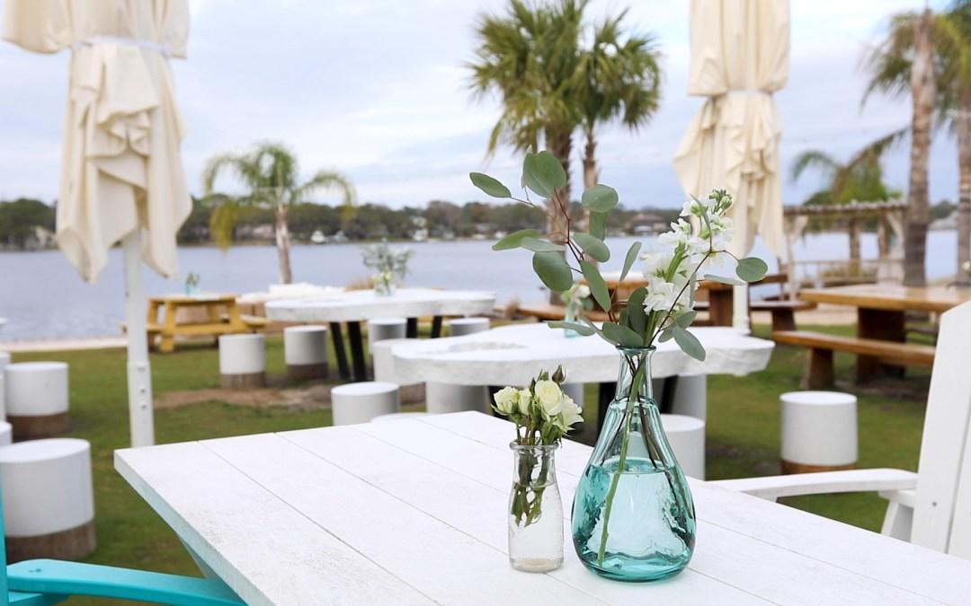 wedding set up at the Gulf on Okaloosa Island