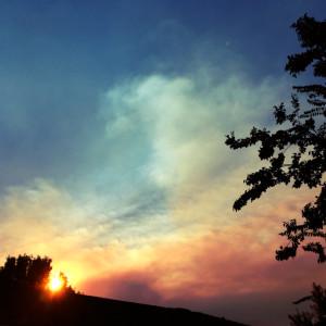 smoky skies