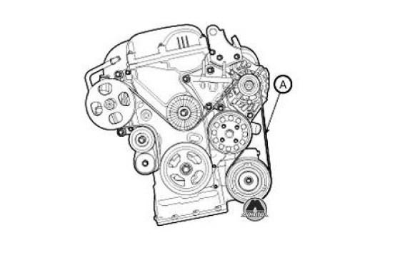 Схема установки ремня вспомогательных агрегатов
