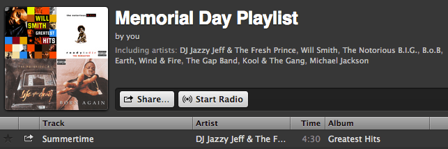 Memorial Day Playlist