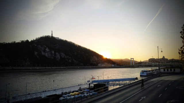 Gellérthegyi naplemente