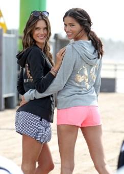 Adriana Lima ve Alessandra Ambrosio Los Angeles'ta