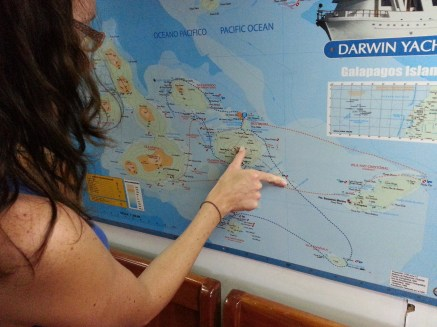 Ruth planning the route