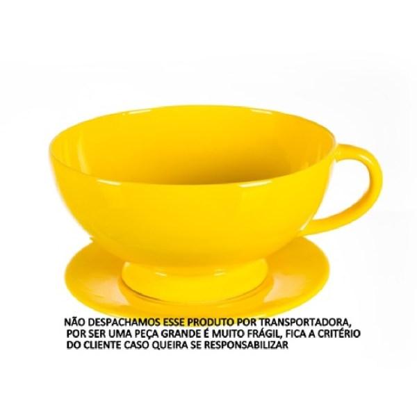 CACHEPOT XÍCARA COM PÉ (LISO) 3 litros