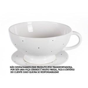 CACHEPOT XÍCARA COM PÉ (DECORADO) 3 litros