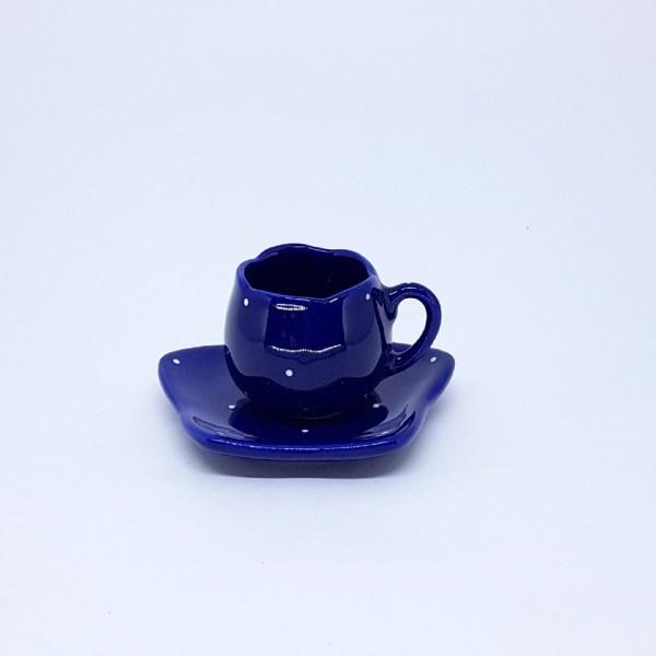 XÍCARA TULIPA DE CAFÉ COM PIRES (DECORADA) 80ml
