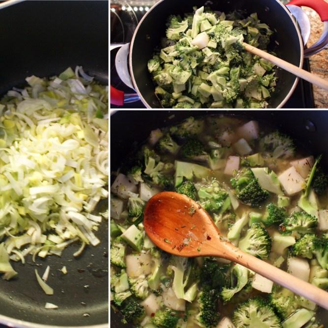 Spin brocolli Soup