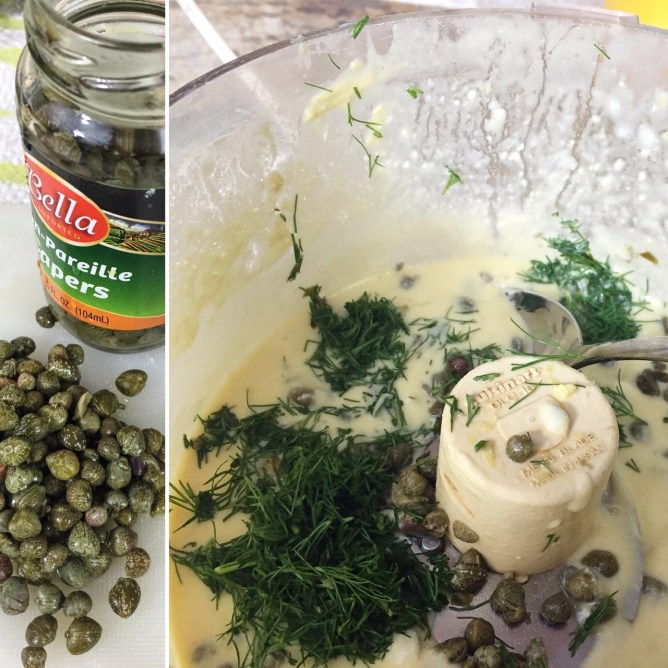 Capers and Dill for the Dressing