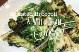 Roasted Broccoli with White Beans Salad