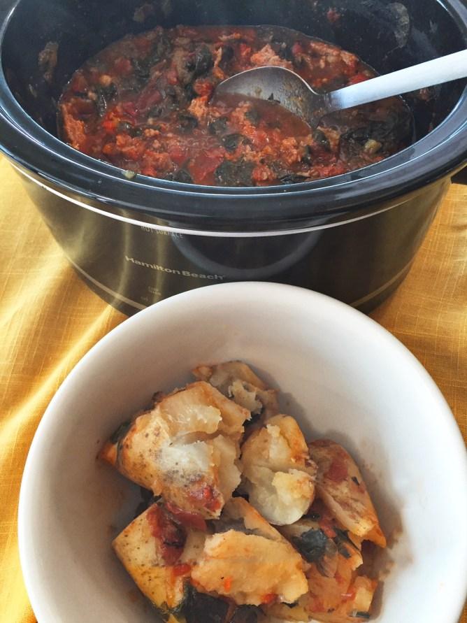 Swiss Chard Stew and Potato