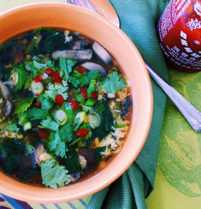 Non Traditional Egg Drop Soup