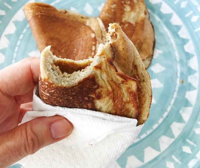 Two Ingredient Pan-crepe Breakfast Wraps