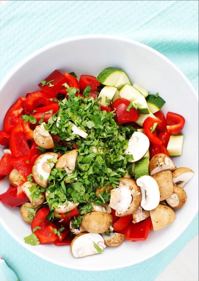 Marinated Mushroom veggie Salad