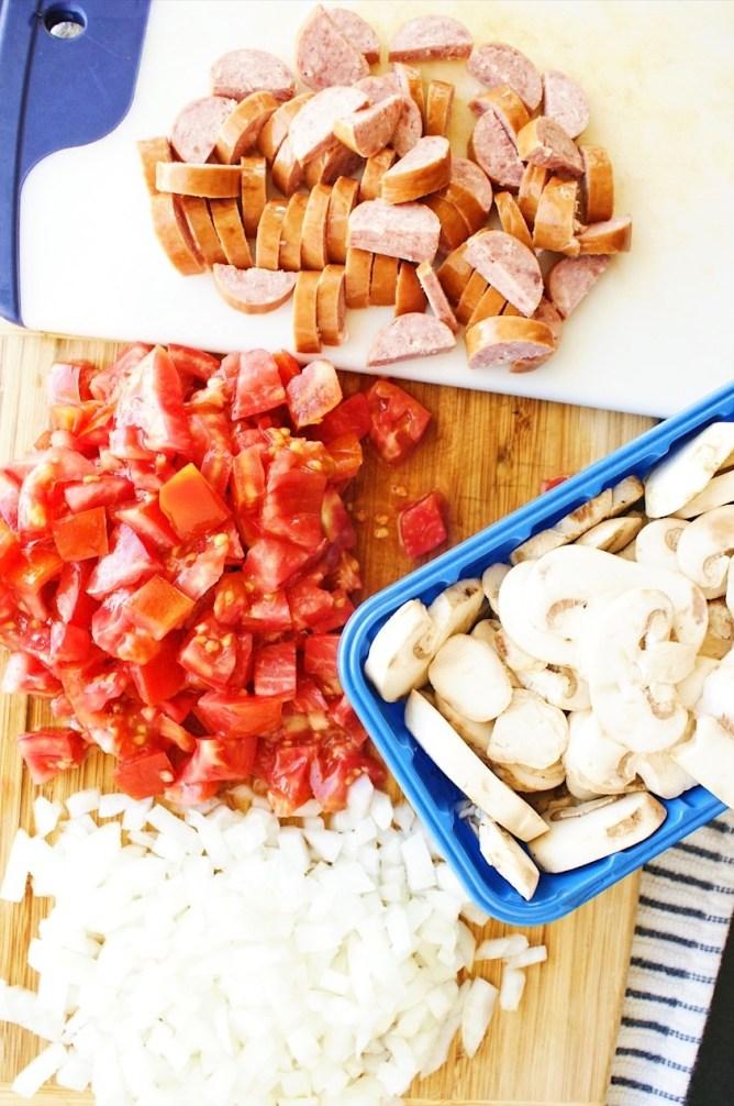 Mushroom Sausage and Orzo