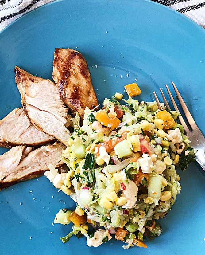Raw and Ready Chopped Salad with Chicken