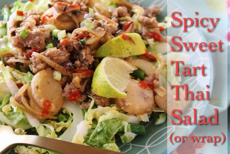 Spicy sweet tart Thai Salad