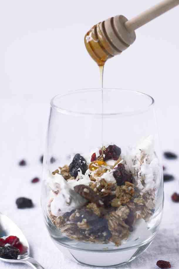 Easy Gluten-free, Nut-Free Granola   kickassbaker.com #granola #paleoish #glutenfreegranola #nutfreegranola #glutenfree #nutfree #allergyfriendly #kickassbaker