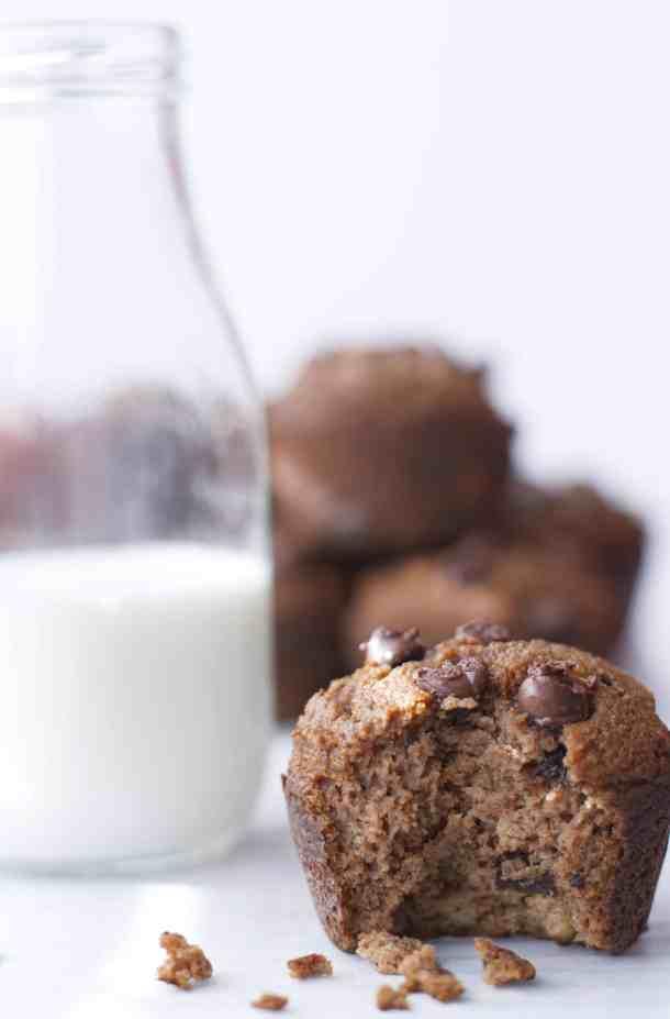 Paleo Pumpkin Muffins with Chocolate Chips | kickassbaker.com #pumpkin #paleo #paleofriendly #muffins #pumpkinspice #halloween #pumpkins #fall #october #ilovefall #paleodiet #glutenfree #nutfree #allergyfriendly #paleolifestyle #dairyfree #realfood #paleofood #sugarfree #muffin #baking #baker #kickassbaker #dessert #instacake #cakestagram #homemade #homebaking #instabake #instasweet #ilovebaking #momblogger #foodbloggerpro @foodbloggerpro #feedfeed @thefeedfeed #bakefeed
