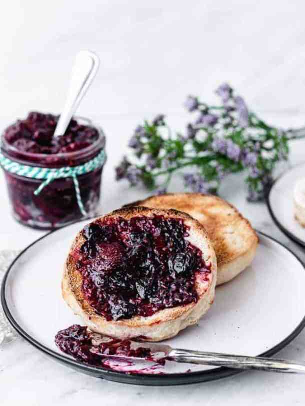 Homemade Sourdough English Muffins | kickassbaker.com #homemade #englishmuffin #englishmuffins #sourdough #howto #easyrecipe #kingarthurflour #breakfast #nutfree #peanutfree #morning