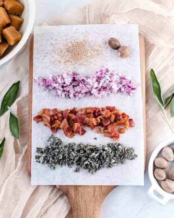 Sweet Potato Gnocchi in Bacon Sage Sauce | kickassbaker.com #dinner #sweetpotato #gnocchi #paleo #paleorecipe #glutenfree #dairyfree #nutfree #bacon #sage #ghee