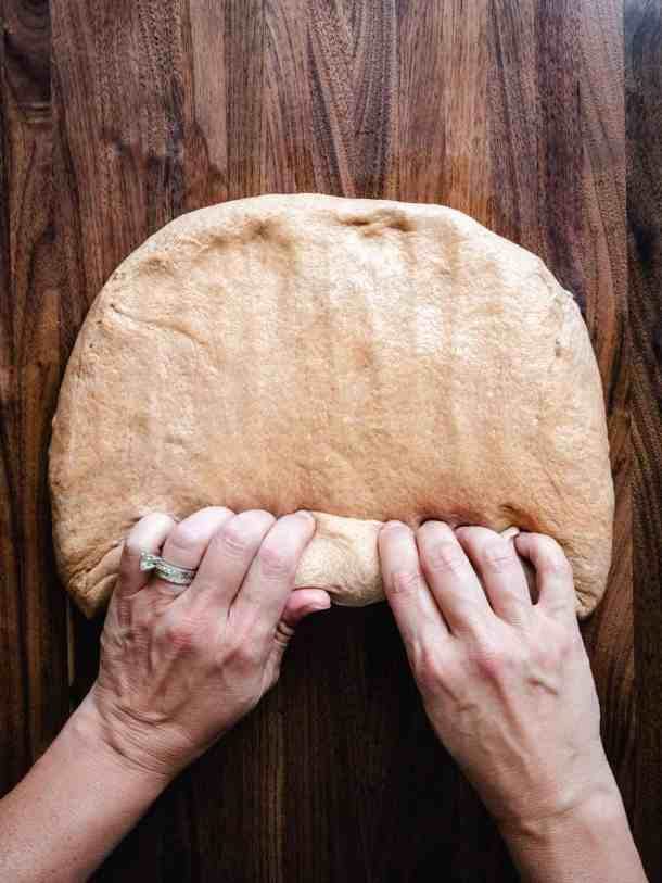 how to roll bread dough into a loaf