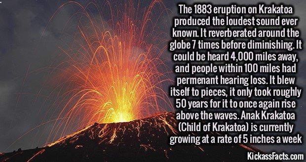 1310 Krakatoa Explosion