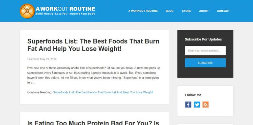 A Workout Routine Blog