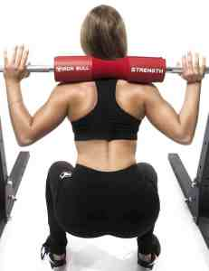 squat with barbell pad