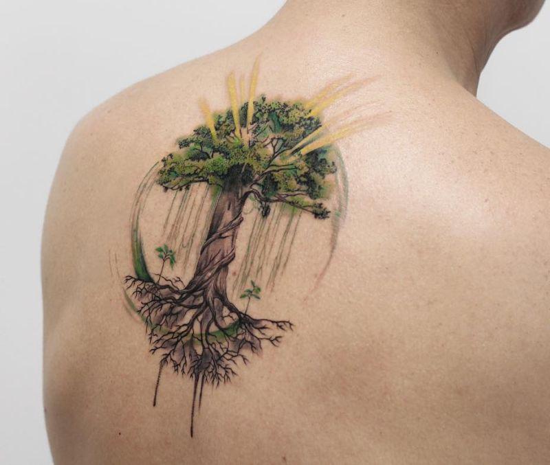 7dc1f316d Tree Of Life Tattoo By Deborah Genchi 2 Kickass Things